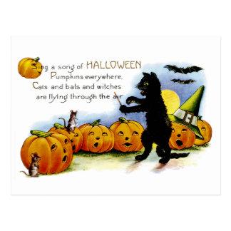 Postal Cante una canción de Halloween