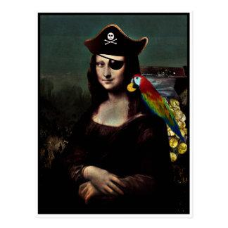 Postal Capitán del pirata de Mona Lisa