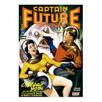 Postal Capitán Future - luna mágica