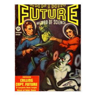 Postal Capitán Future y condenación solar