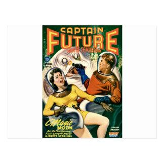 Postal Capitán Future y la luna mágica