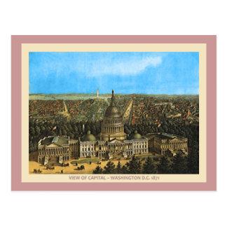 Postal Capitolio de Estados Unidos del vintage