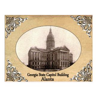 Postal Capitolio del estado de Georgia que construye la
