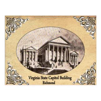 Postal Capitolio del estado de Virginia que construye la