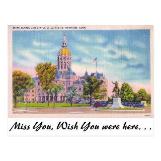 Postal Capitolio del estado, Hartford, Connecticut