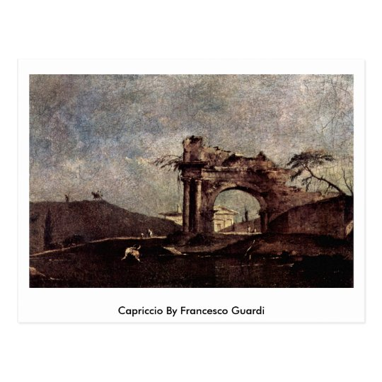 Postal Capricho de Francesco Guardi