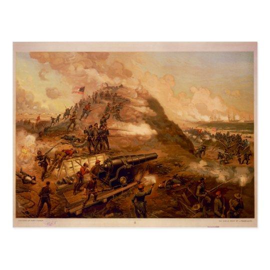 Postal Captura americana de la guerra civil del fuerte