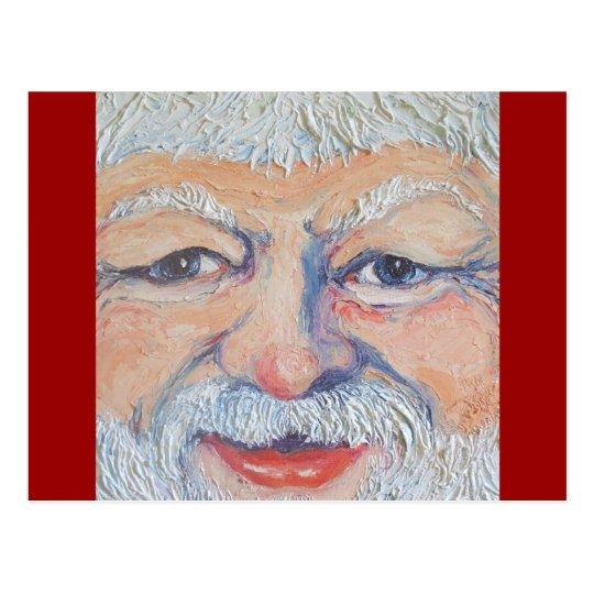Postal Cara cuadrada de Santa