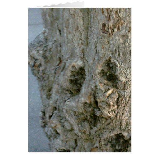 Postal cara de árbol, en blanco, gestaltbar tarjetas