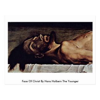 Postal Cara de Cristo de Hans Holbein el más joven
