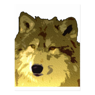 Postal Cara del lobo