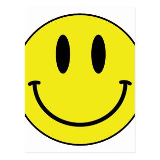 Postal cara sonriente