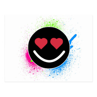 Postal Cara sonriente Corazón