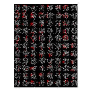 Postal Caracteres chinos