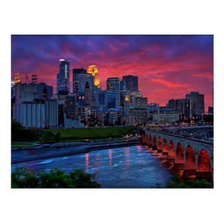 Postal Caramelo del ojo de Minneapolis