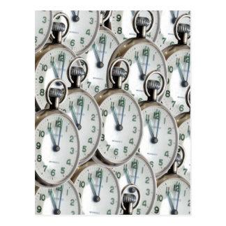 Postal Caras de reloj múltiples