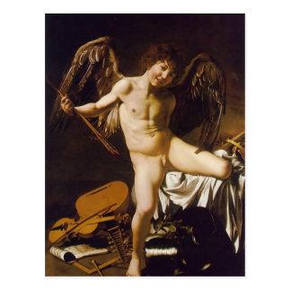 Postal Caravaggio- Amor victorioso