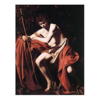 Postal Caravaggio- San Juan Bautista