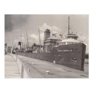 Postal Carguero del barco del mineral del Jr. del vintage