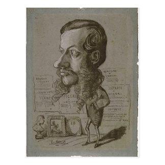 Postal ¿Caricatura de Claude Monet de L? en Manchon C.