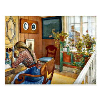 Postal Carl Larsson - correspondencia