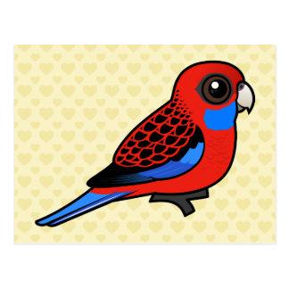 Postal Carmesí Rosella de Birdorable