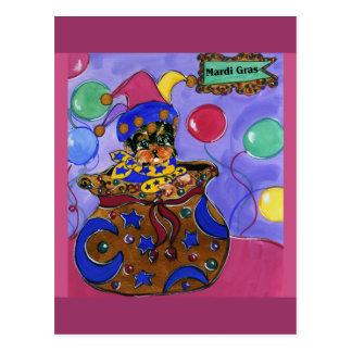 Postal Carnaval Yorkie Poo