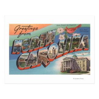 Postal Carolina del Norte (flor de estado/pájaro)