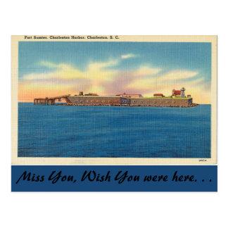 Postal Carolina del Sur, fuerte Sumter, Charleston