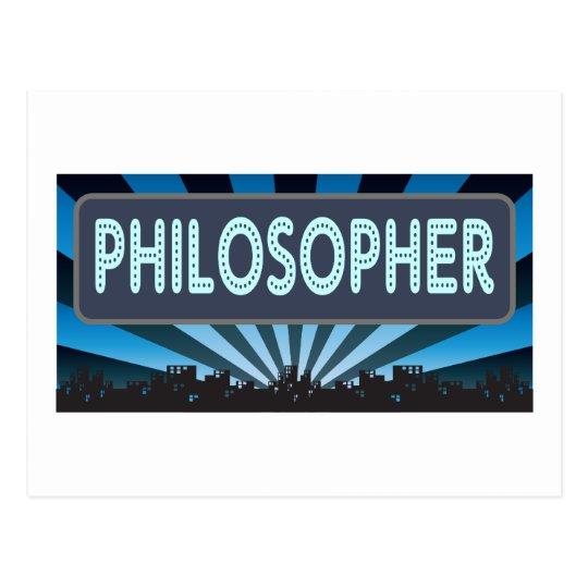 Postal Carpa del filósofo
