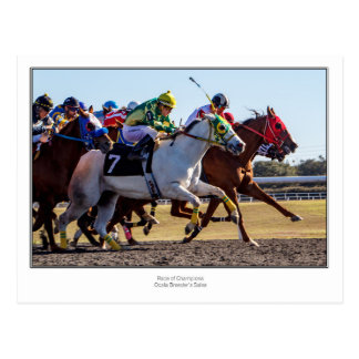 Postal Carrera de caballos