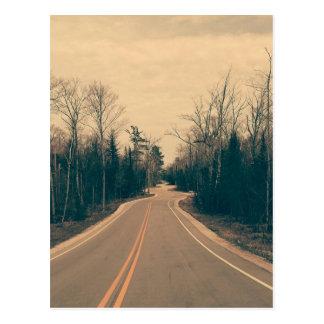 Postal Carretera con curvas