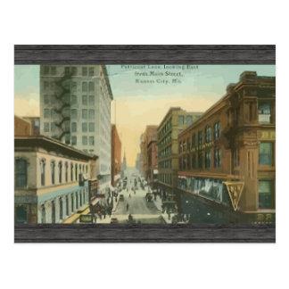 Postal Carril de la enagua, Kansas City, vintage