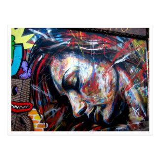 Postal Carril del ladrillo del arte de la calle