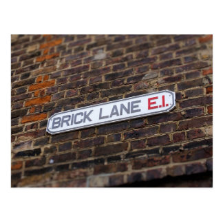 Postal Carril del ladrillo - Londres - placa de calle -