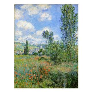 Postal Carril en los campos de la amapola - Claude Monet