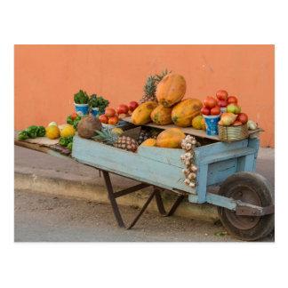 Postal Carro de la fruta y verdura, Cuba