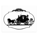 Postal Carro romántico Sillhouette