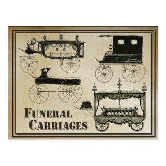 Postal Carros fúnebres antiguos