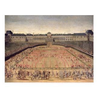Postal Carrusel dado para Louis XIV