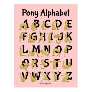 Postal Carta flexible del alfabeto del potro el |