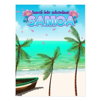 """Postal Cartel del viaje de la aventura de Samoa """"viaje"""