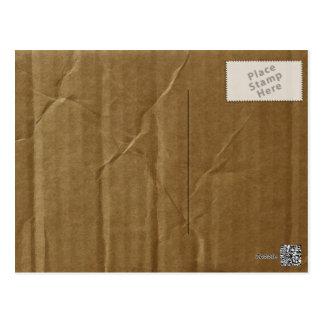 Postal Cartulina arrugada