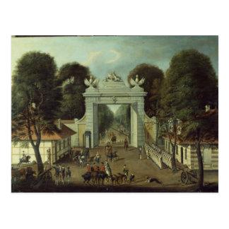 Postal Casa de cazadores en Potsdam, c.1735