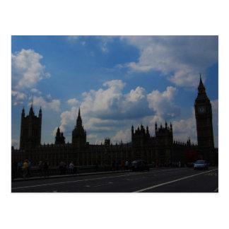 Postal Casa del parlamento y de Big Ben