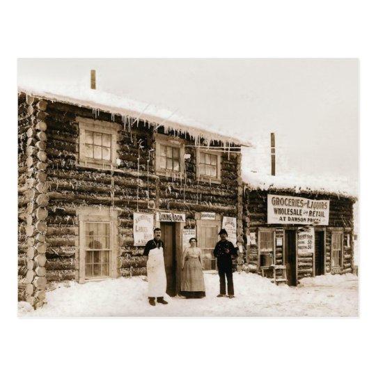 Postal Casa el Yukón, Alaska del imán circa 1890s