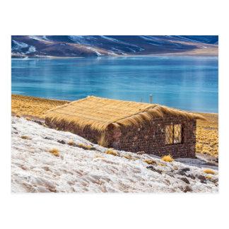 Postal, Casa en el Lago, Desierto Atacama, Chile. Postal