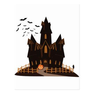Postal Casa encantada del feliz Halloween