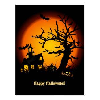 Postal Casa encantada Halloween Postacard