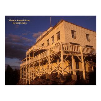 Postal Casa histórica el Monte Holyoke de la cumbre